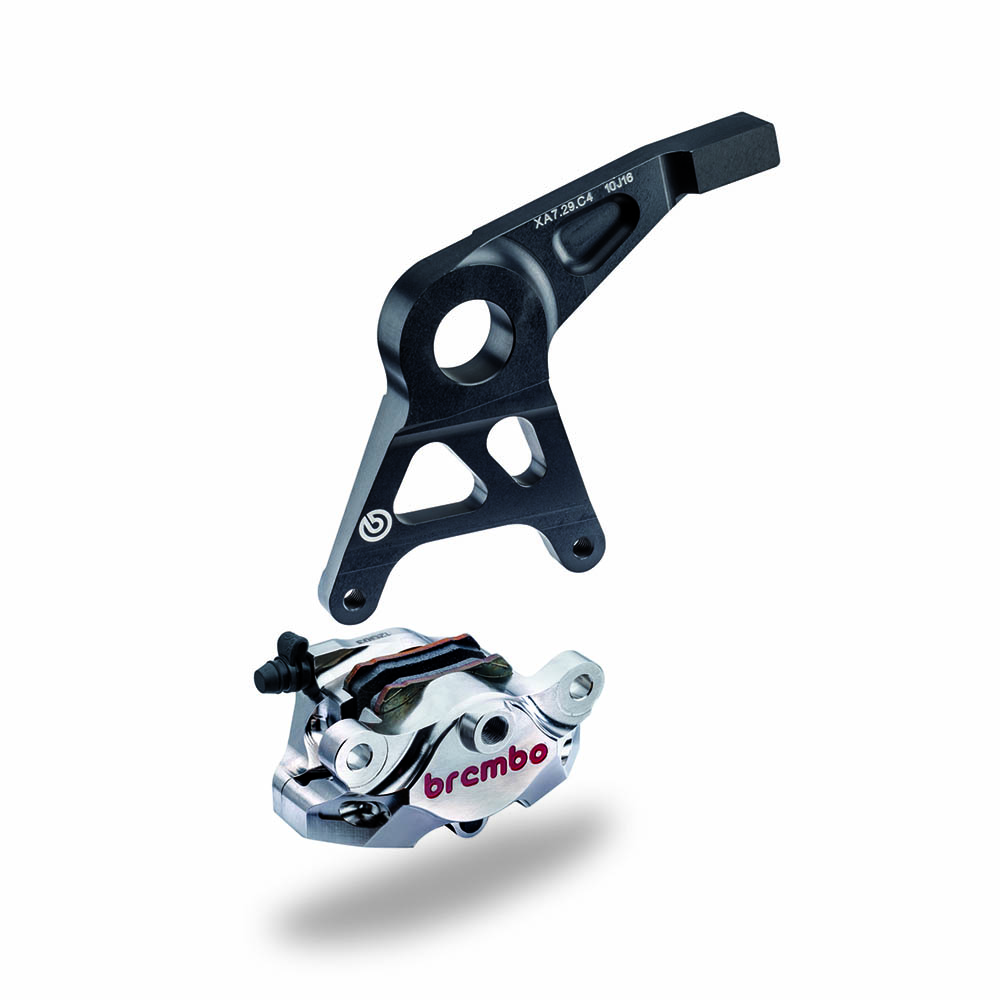 BREMBO RACING PINZA POSTERIORE SUPERSPORT CNC CON STAFFA