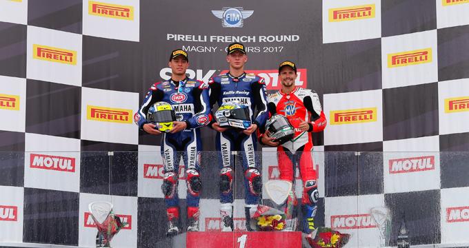 WSS al Magny-Cours: Caricasulo sul podio e Mahias al primo posto della classifica Super Sport