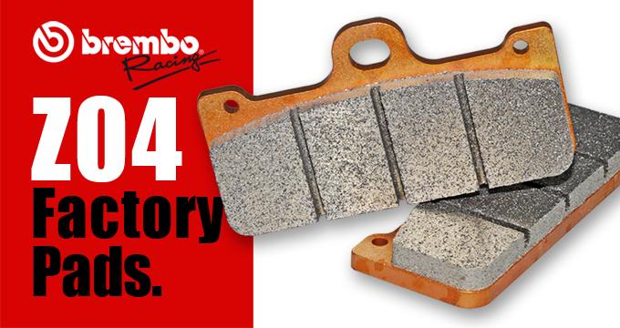 """Brembo Racing Mescola Z04, una vera """"Factory pad""""."""