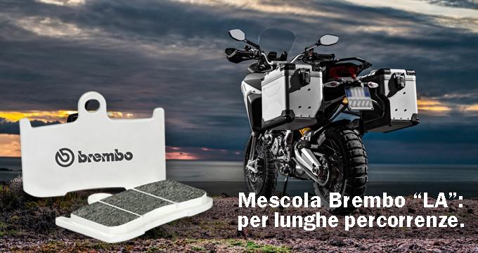 Brembo mescola LA: ideale per lunghe percorrenze.