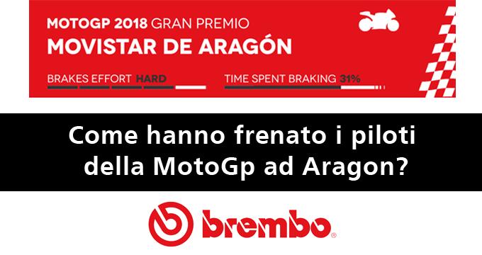 MotoGP 2018: leggi dati e informazioni delle migliori frenate sul circuito di Aragon.