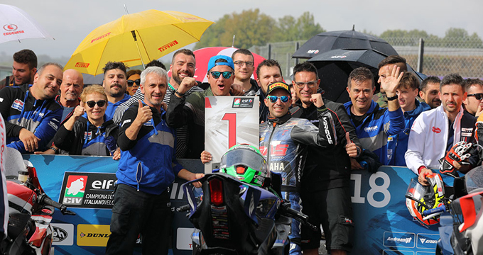 Massimo Roccoli, del GAS Racing Team, vince il Campionato Italiano Classe 600 SuperSport.