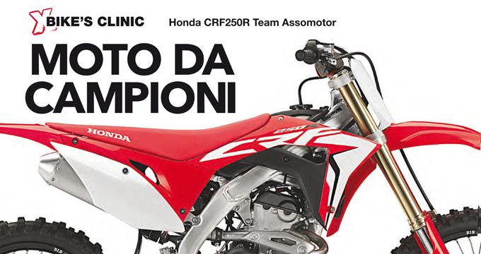 """La squadra di X-OffRoad ha """"sezionato"""" la CRF250R del Team Assomotor, portata alla vittoria nel Campionato Europeo EMX2 dal francese Mathys Boisramé."""