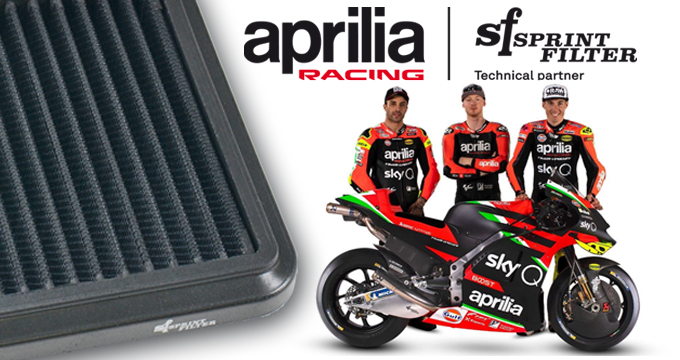 Sprint Filter anche per il 2020 è il partner tecnico di Aprilia Racing!