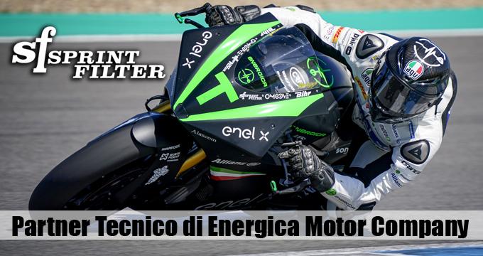 Sprint Filter è Partner Tecnico di Energica Motor Company che è Single Manufacturer della FIM Enel MotoE World Cup.