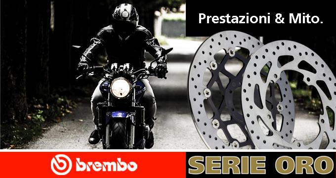 La tua moto merita Brembo: scegli i Dischi Serie Oro!