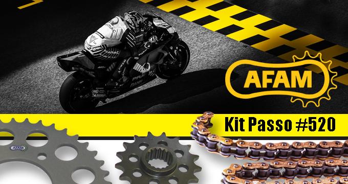 AFAM passo 520: il kit trasmissione che ti assicura look e prestazioni racing.