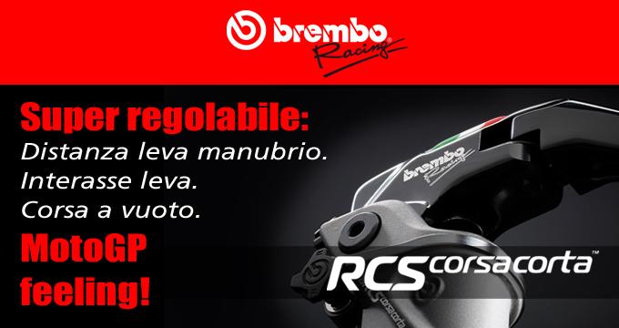 Assapora il MotoGP feeling grazie alla pompa freno Brembo RCS Corsacorta!