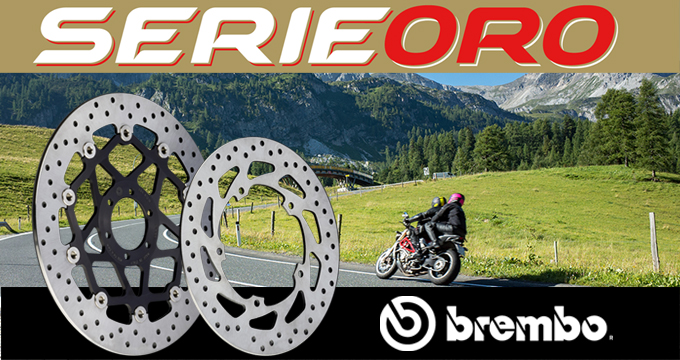 Scegli la qualità Brembo con i Dischi Serie Oro.