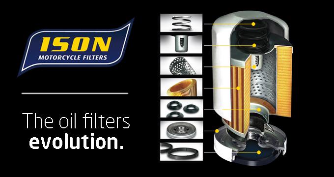 Per la tua moto scegli i filtri olio Ison!