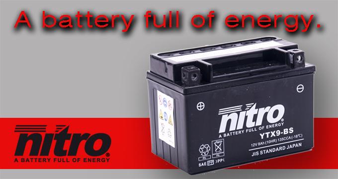 Nitro: la batteria ideale per la tua moto!