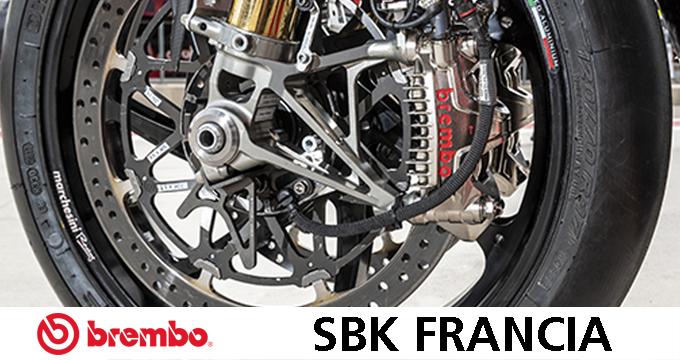 Dati dei freni al Circuit de Nevers Magny-Cours e le ruote marchesini per la pista e le moto stradali.